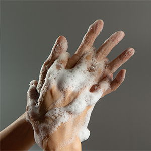 Washing hands instead of using hand sanitizer