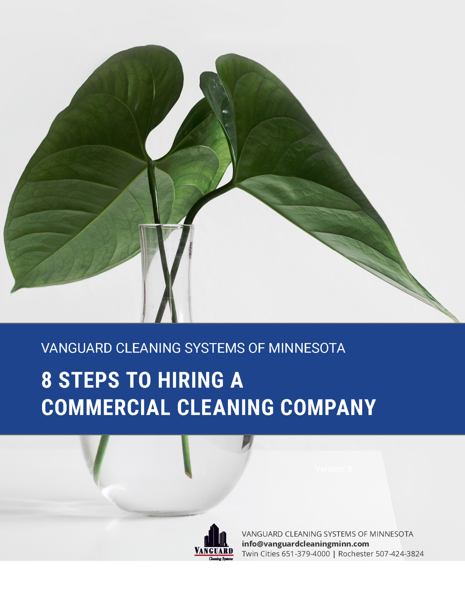8 Steps to Hiring a Commercial Cleaning Company - PDF Cover